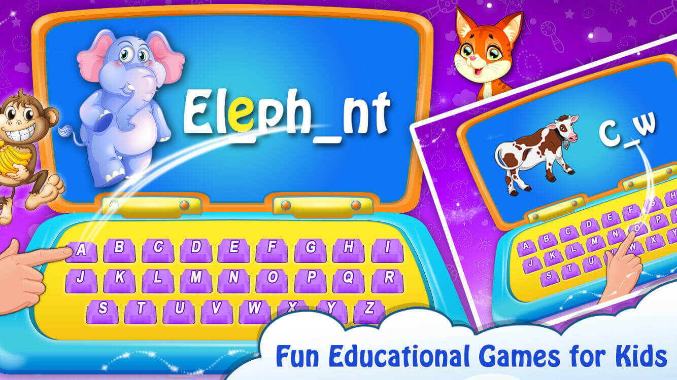 Kids Computer - Alphabet, Number, Animals Game
