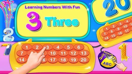 Alphabet Laptop - Numbers, Animals Educational 2
