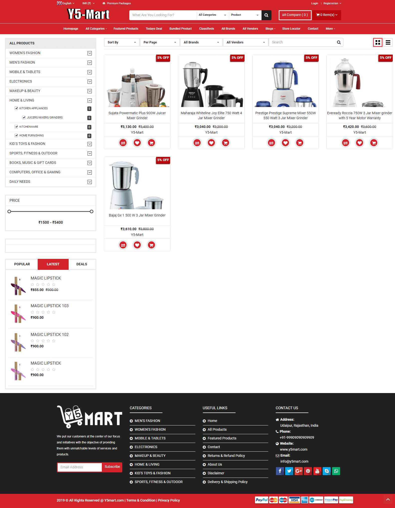 Multi Vendor Ecommerce Website