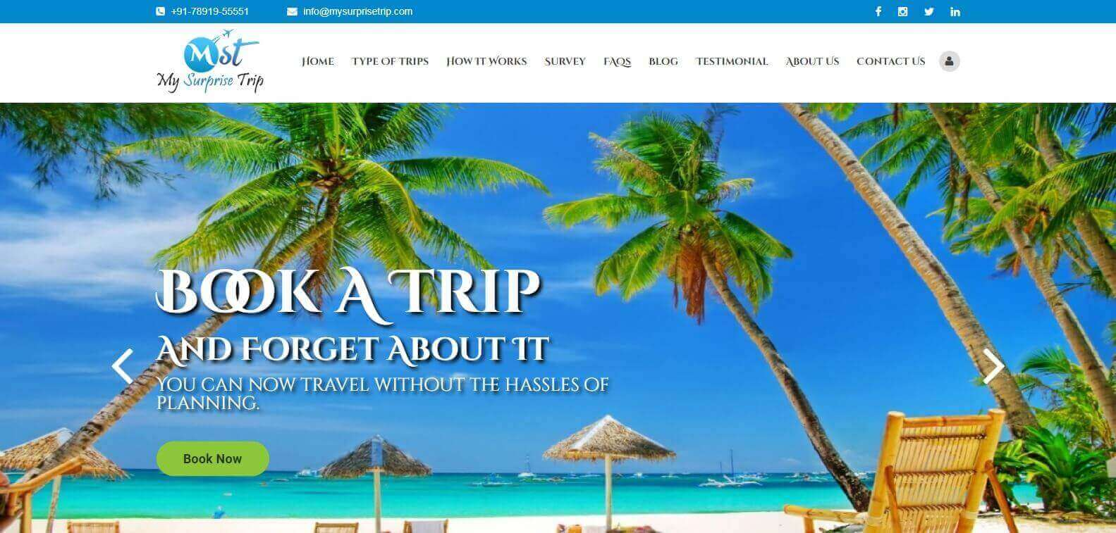 Travel Tour Website