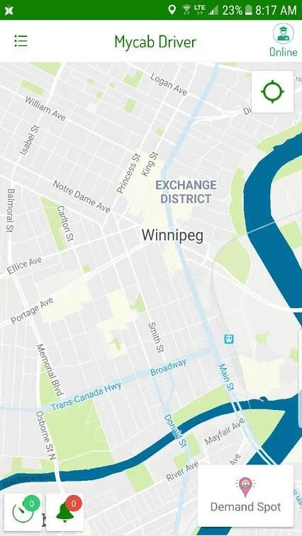 Taxi Booking App Portfolio Image 3