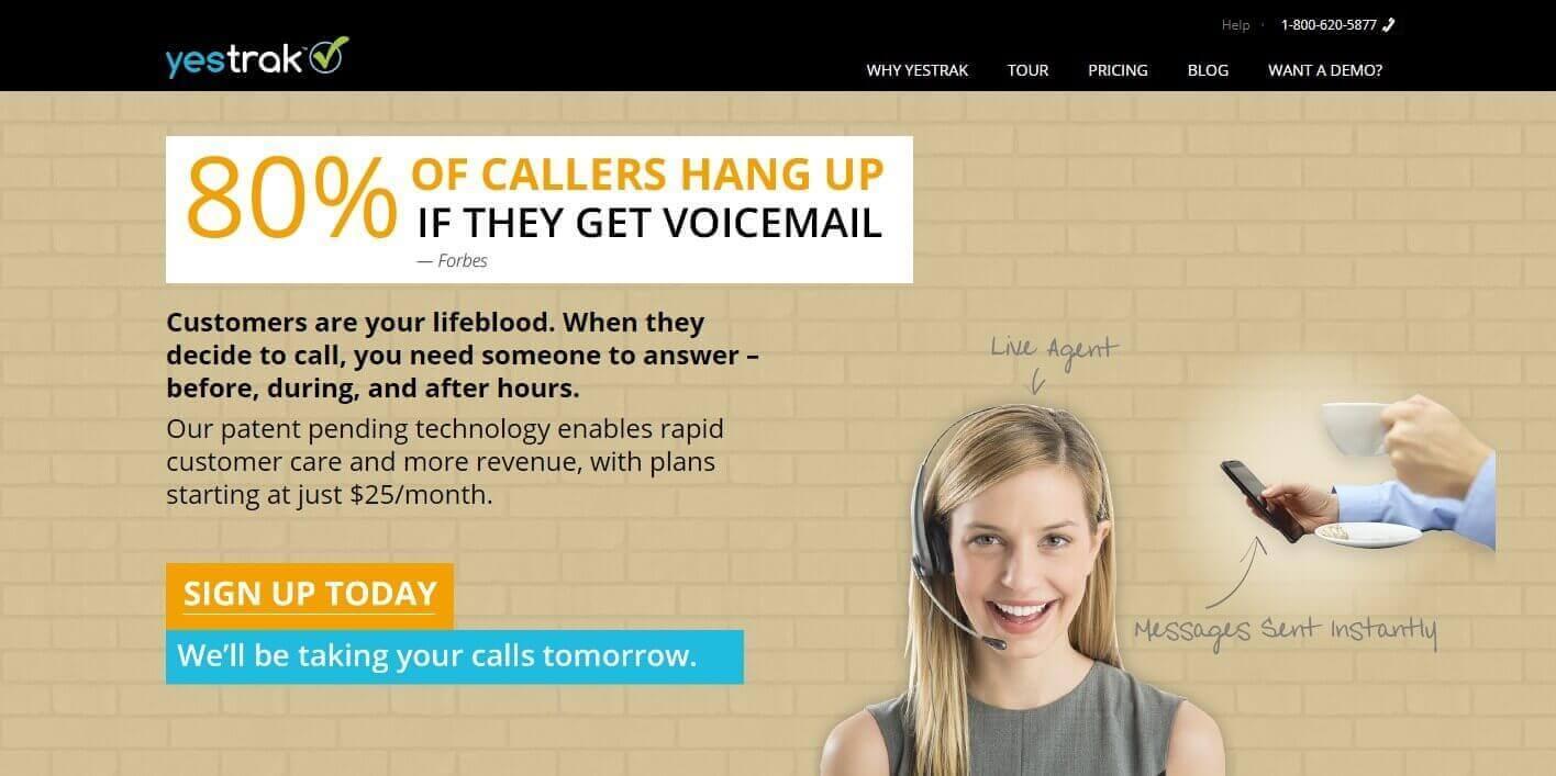 Virtual Calling Website Portfolio Image